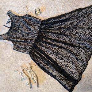 Jessica Howard Evenings Black Polka Dot Dress
